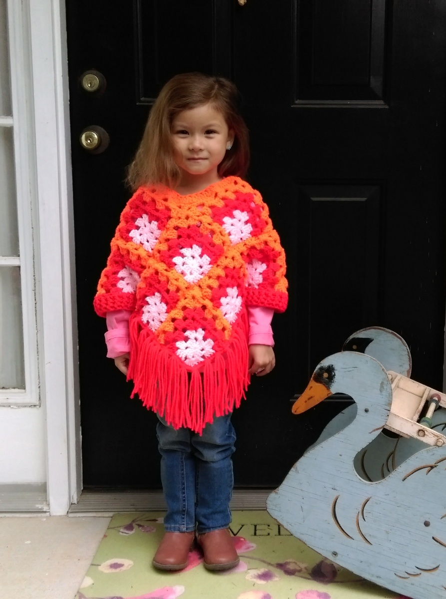 Crochet Poncho Pattern For Girls Knotted Mom