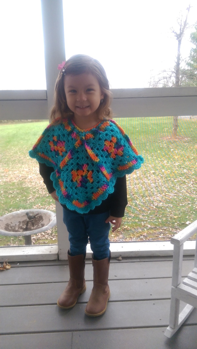 poncho crochet pattern – Knotted Mom