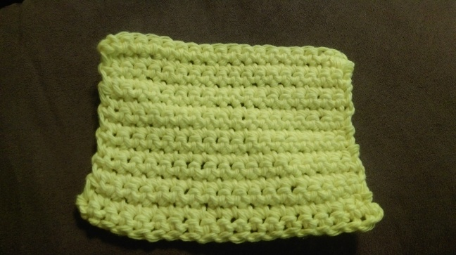 Single Crochet Dishcloth Pattern